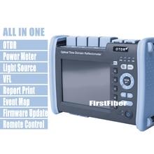 FF 990PRO S1 광섬유 OTDR 1310/1550nm 35/33dB 반사 계, SC ST FC LC 커넥터가있는 VFL OPM OLS 터치 스크린 내장