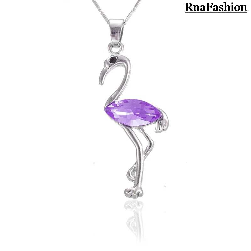 RNAFASHION Trendy moda wisiorek z motywem zwierzęcym naszyjnik Austria kryształ posrebrzane biżuteria damska 2017