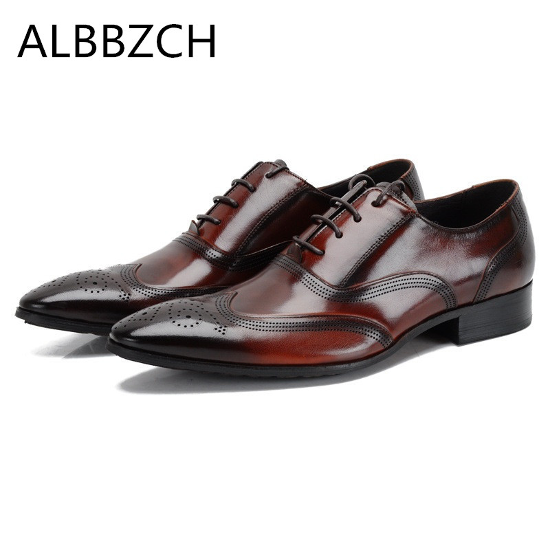 New brand designer fashion carving genuine leather men shoes pointed toe lace up mens wedding dress shoes man office work shoesNew brand designer fashion carving genuine leather men shoes pointed toe lace up mens wedding dress shoes man office work shoes