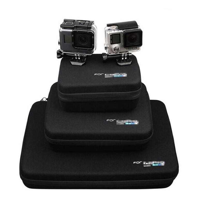 Para los accesorios de Gopro de almacenamiento de protección bolsa de caso para Xiaomi Yi 4 K Go pro hero 7 6 hero 5 4S Sjcam Sj4000 SJ6 Cámara de Acción