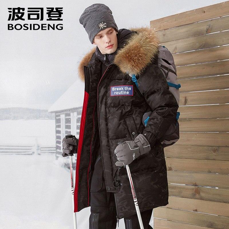 Bosideng Neue 90% Gans Unten Mantel Mid-lange Unten Jacke Winter Dicke Warme Outwear Lange Parka Große Natürliche Pelz Wasserdicht B70142023 Mutter & Kinder