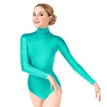 Ensnovo Vrouwen Gymnastiek Turnpakje Ballet Dancewear Spandex Turnpakje Ballet Vrouwelijke Dancewear Lange Mouwen Lady Bodysuit Panty