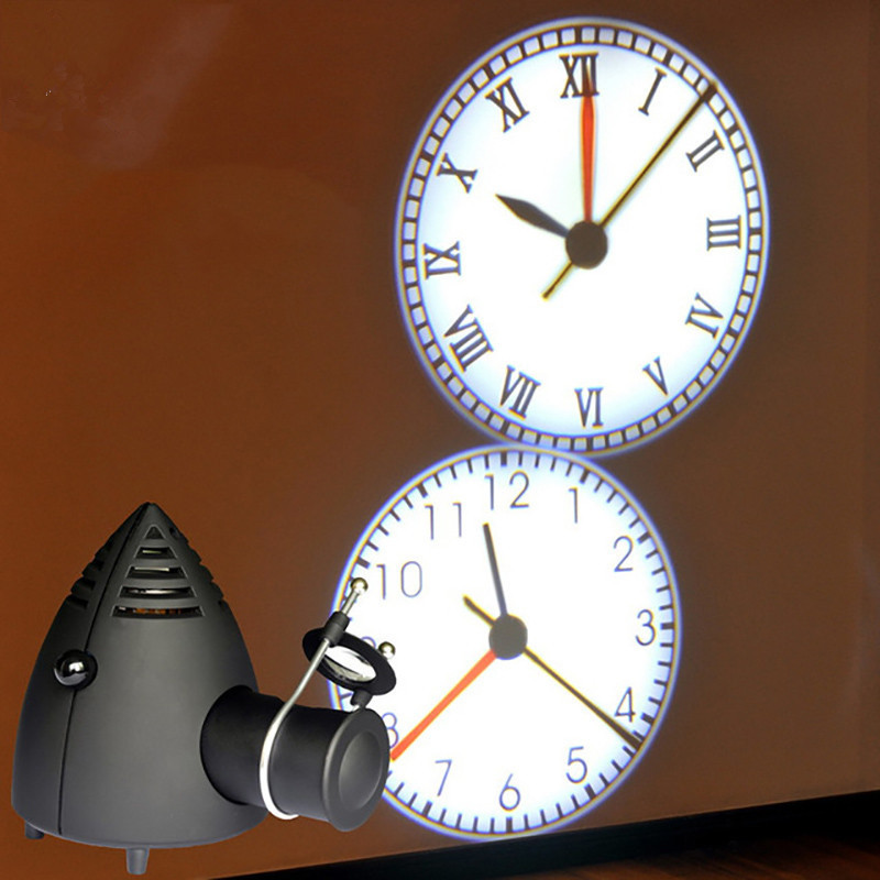 ახალი LED პროექტორის საათების ელექტრონული საათები Luminous Lighting Creative Home Life Clock შეიძლება შეცვალოს ფოკუსი