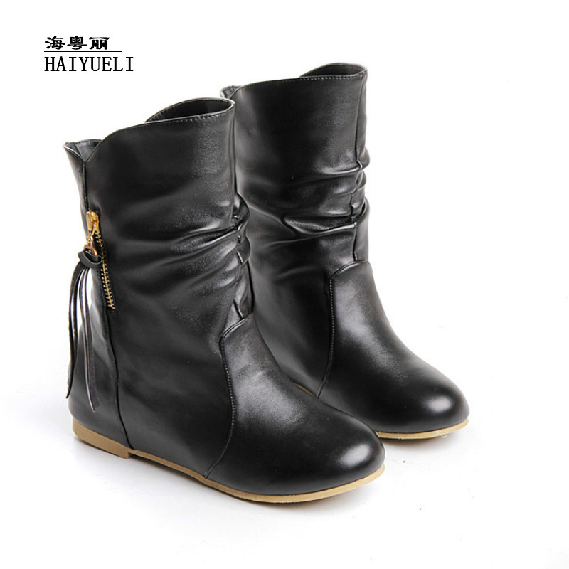 short boots ankle winter fashion sexy warm women comfortable casual shoes size 34-45