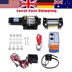 WALFRONT 4000lbs Проводная лебедка, электрическая лебедка для восстановления, трос, тяговый двигатель, комплекты лебедок, набор 12 В, ATV трейлер лебе...