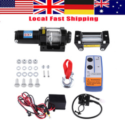 WALFRONT 4000lbs Draht Winde Elektrische Recovery Winch Kabel Ziehen Motor Winde Kits Set 12 V ATV Winde Anhänger Lkw Auto