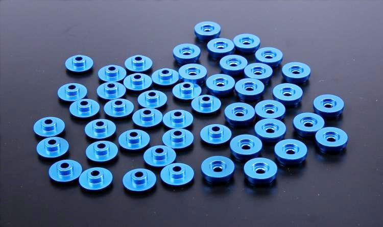 CNC Alloy Pad Set Shells Support Cover Support Pad Body Washers for 1 5 Losi 5ive