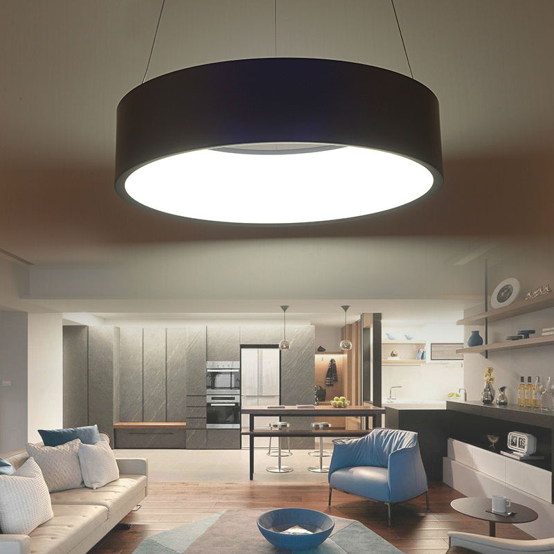 Modern Led Pendant Lamps Living Room Acrylic Fixture: Modern Led Pendant Lights Fixture For Living Room Dining
