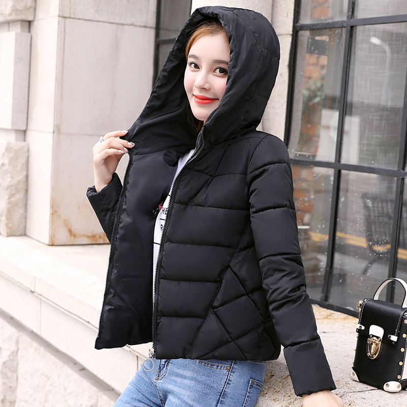 New arrival 2019 casual  women winter jacket short coat hooded warm chaqueta sweet outwear mujer womens basic jacket