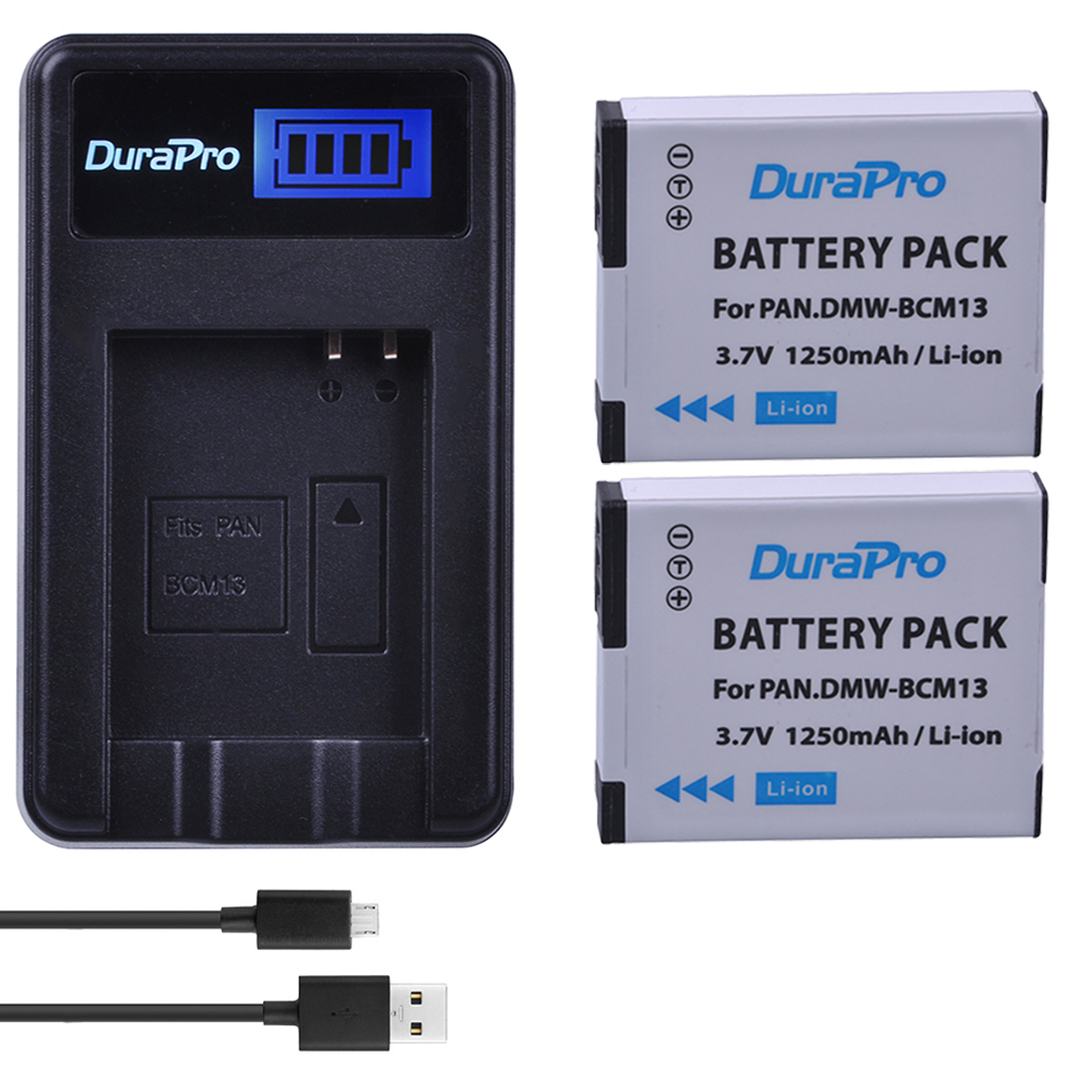 2pc DMW-BCM13 DMW BCM13 BCM13 Camera Battery+LCD USB Charger for Panasonic Lumix ZS27,ZS30,ZS35,DMC-ZS40/ZS50,FT5,LZ40,TZ41,TZ55 free shipping 95%new zs35 motherboard for panasonic lumix dmc zs35 tz55 mainboard tz55 main board camera repair part