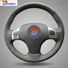 BANNIS Black Artificial Leather DIY Hand-stitched Steering Wheel Cover for Lexus is250 Car Special