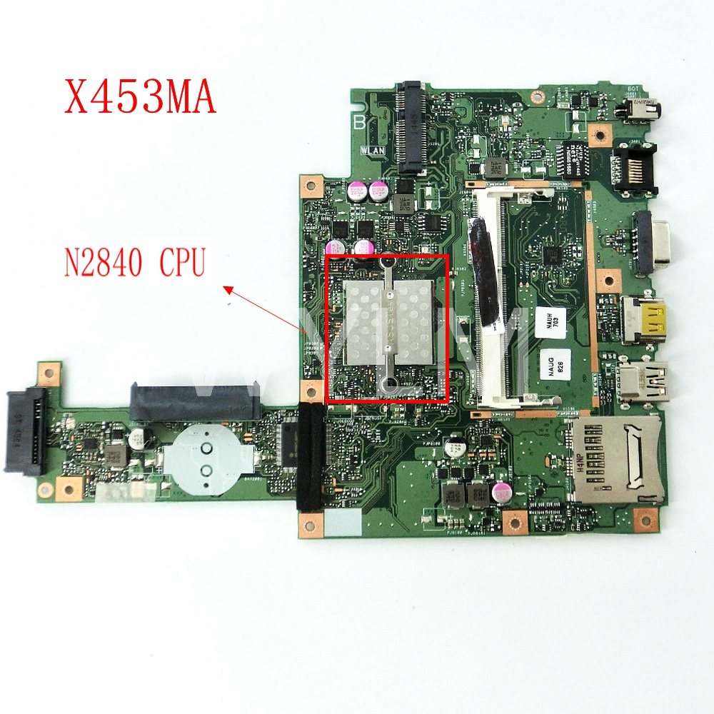 X453MA With N2840CPU mainboard REV2.0 For ASUS F453MA X403MA D403M F403M X403M Laptop motherboard Tested Working free shipping free shipping k42dr mainboard rev2 3 for asus a42d k42d k42dy k42dr laptop motherboard tested working