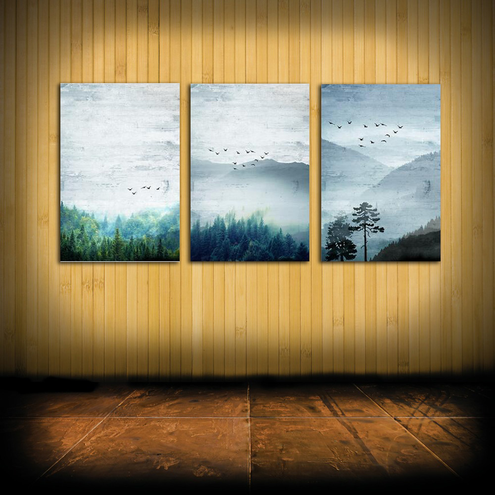 New Arrive Home Decoration Nordic Simple Woods Natural Scenery ...