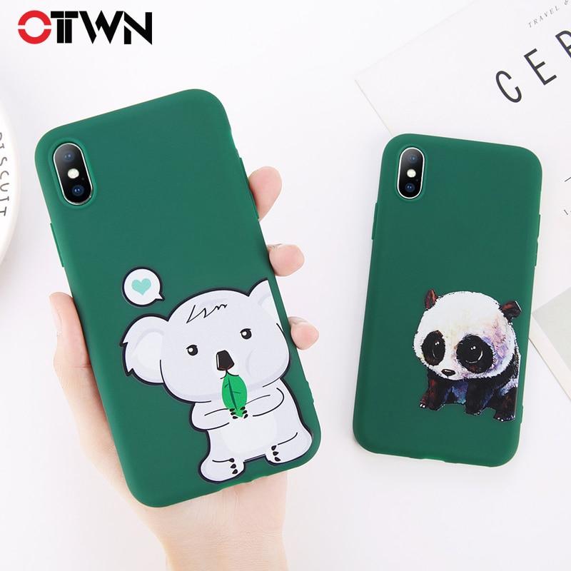 Чехлы для телефонов Ottwn с милыми животными для iphone X 6, 6 S, 7, 8 Plus, мягкая задняя крышка из ТПУ, Kawaii, панда, собака, коала, чехлы для iphone 6 S
