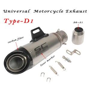 Image 5 - 36 мм ~ 51 мм Универсальная модификация выхлопной трубы мотоцикла Escape Модифицированная выхлопная труба для мотокросса R1 R6 R3 Z900 KTM390 K8 CBR