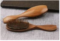 Free Shipping 1 piece Thick and Solid Wood Comb Healthcare massage Hair Treatment Gift for Parents Friend Lovers Wholesale