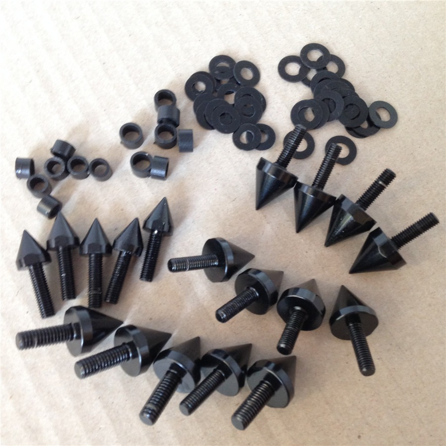 Aftermarket Free Shipping Motorcycle Parts  Spike Fairing Bolts For Kawasaki 2004 2005 Kawasaki  Ninja ZX10 ZX10R 10R Black