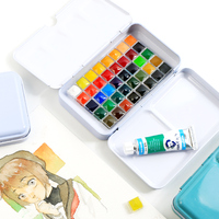 Известный бренд разделенная твердая краска на водной основе набор с книгой для рисования воды цвет пигментное окрашивание арт-поставка