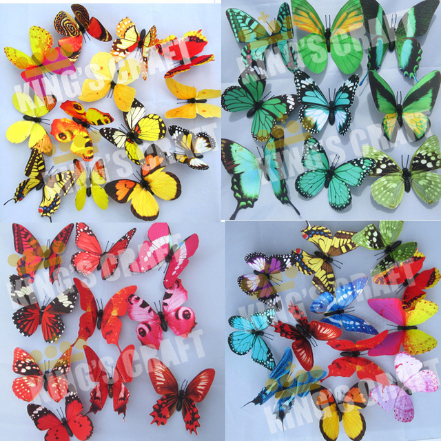 TOP-QUALITY 20CM Artificial  Emulational Painting Butterfly For Wedding Favor, Party Decorations, Craft Butterflies