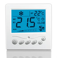 AC220V Air Conditioning Thermostat HVAC Systems Used Thermostat Can Control Motorized Valve Or Air Damper