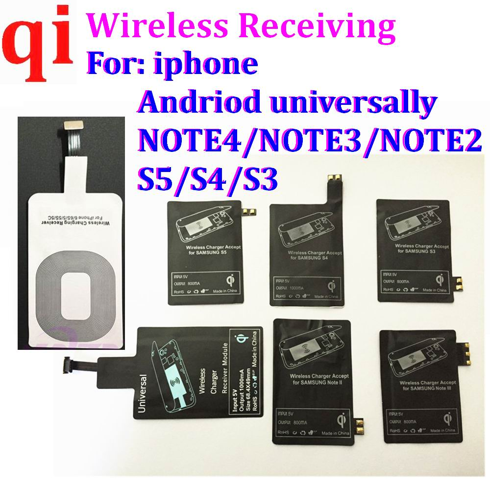 universal TYPE C 8 pin Qi Wireless Charger Receiver Charging Receptor Pad Coil Adapter For Samsung