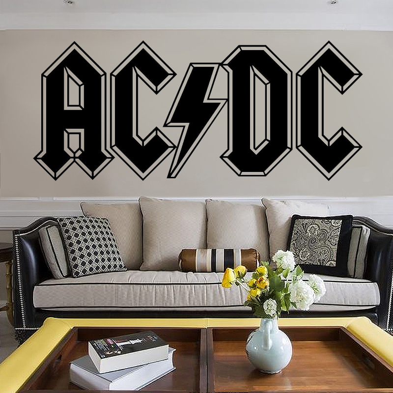 G099 AC DC LOGO Music Rock Band Vinyl Wall Art Sticker Decal For Living  Room Bedroom Home Dear Art Room Decoration  In Wall Stickers From Home U0026  Garden On ... Part 55
