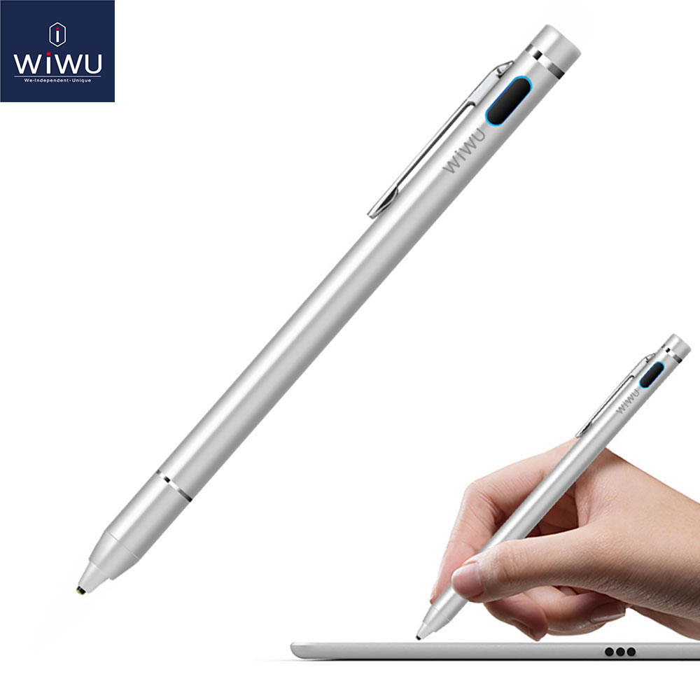 WIWU Stylus Touch Pen for iPad 2018 Pro 9.7 10.5 12.9 inch for Apple Pencil Stylus Pen for Capacitive Screen Universal Touch Pen scalable capacitive touch screen stylus pen for iphone ipad ipod touch silver