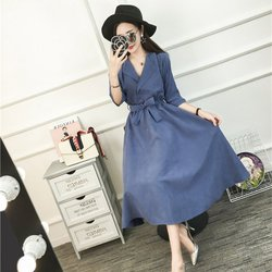 Ladies Belt Half Sleeve Dresses Elegant Vestidos Clothing Femme Beach Party Dress Women Spring Dress Y6 1