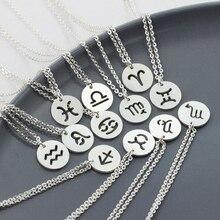 6922ec0e Capricornio, acuario, piscis Aries Taures de Géminis, Cáncer, Leo, Virgo,  Libra, escorpio Sagitario Zodiaco collar de la amistad.