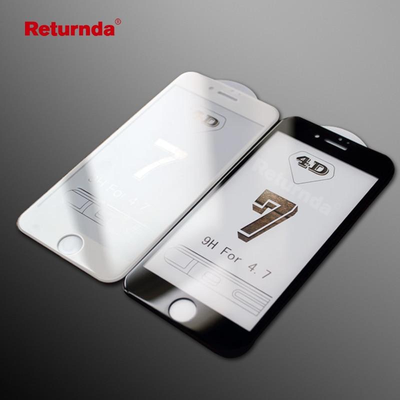 4D (новый 3D обновление) полный изогнутый экран протектор защиты Стекло для iPhone 8 6 6s плюс 7 plus анти-голубой свет края 9 H Стекло пленка