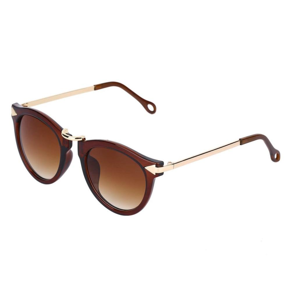 En gros De Mode 2018 Cat Eye Rétro Sexy Unisexe lunettes de Soleil Style de  Flèche Lunettes En Métal Cadre Rond Lunettes De Soleil Drop Shipping 79308d03b3fc