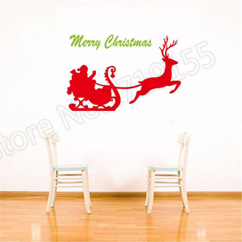 YOYOYU Wall Decal Hot Deer Merry Christmas Happy Holidays Stickers home decoration remove vinyl decal ZW47