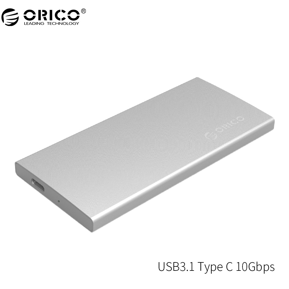ORICO DM2-RC3 USB3.1 Type-C External Hard Drive Enclosur Gen2 10Gbps Aluminum Dual-bay Support RAID 0 PM Mode with Type-C Cable кабели orico кабель microusb orico adc 10