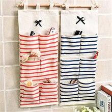 Hot Sale 6-8 Pockets Kitchen Large Door Wall Hang Pouch Hanging Wardrobe Socks Bathroom Debris Storage