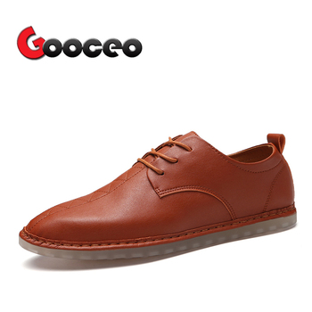 Size 12 Flats | Men's Flats Moccasins Summer Spring Leather Driving Shoes Light Comfortable Casual Handmade Fashion Lace-up Big Size Sizes 12