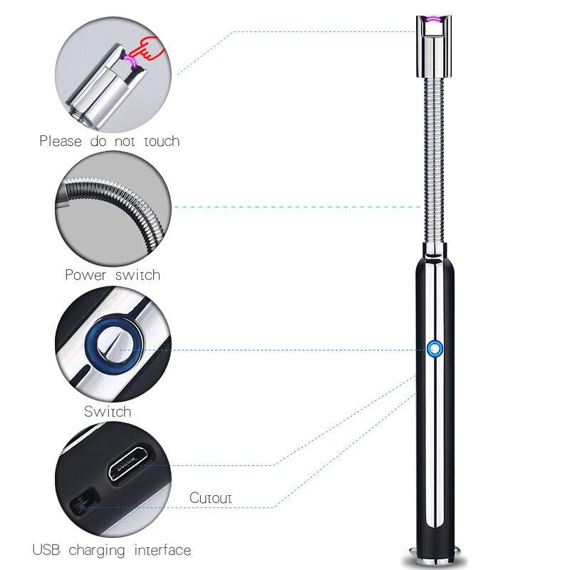 BBQ Kerze Zündung Pistolen Elektrische Pulsed Arc Leichter Flammenlose Winddicht Sicher Küche Wiederaufladbare Zündung USB Feuerzeuge