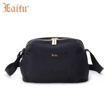Laifu Women Nylon Mini Casual Handbag Ladies Teenage Girls Shoulder Messenger Bag Waterproof Jacquard, Black Blue