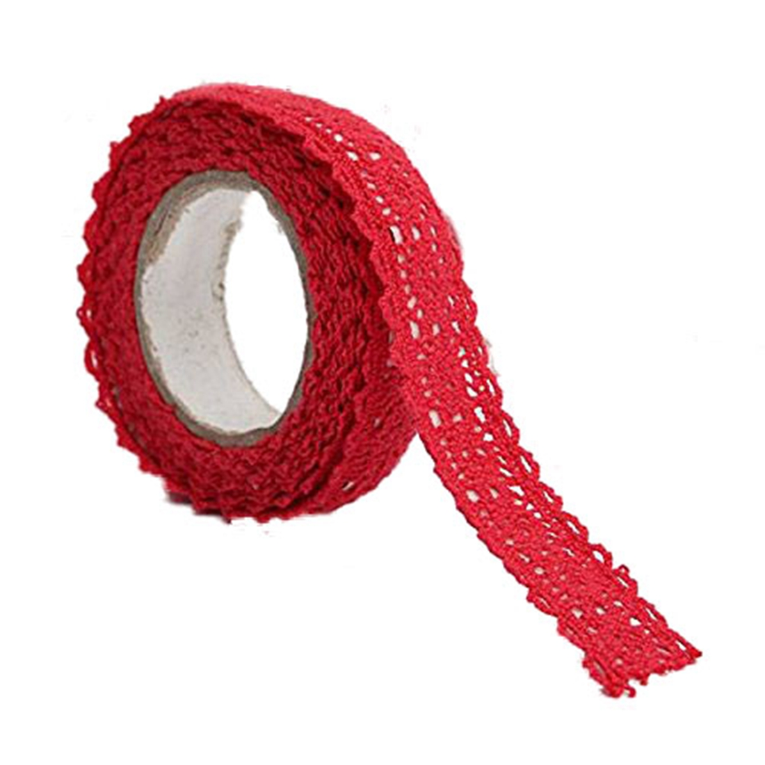1x Decoration Band Christmas Ribbon Lace Wedding Gift on 1.8 * 170cm Red