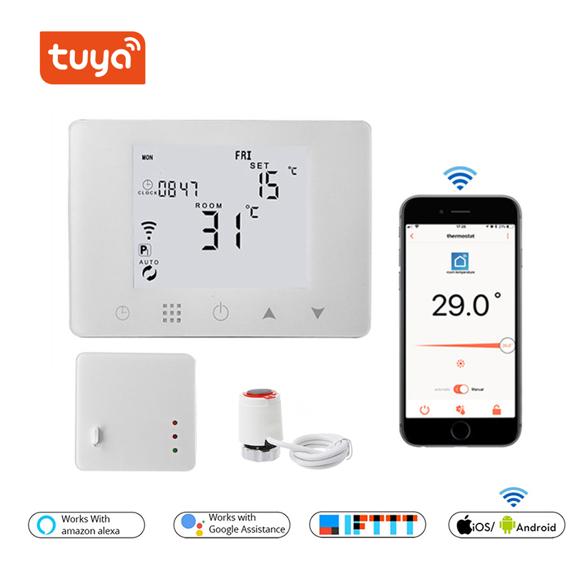 WiFi & RF Wireless Room Thermostat Wall-hung Water Heating And Gas Boiler Heating Remote Control Temperature Controller