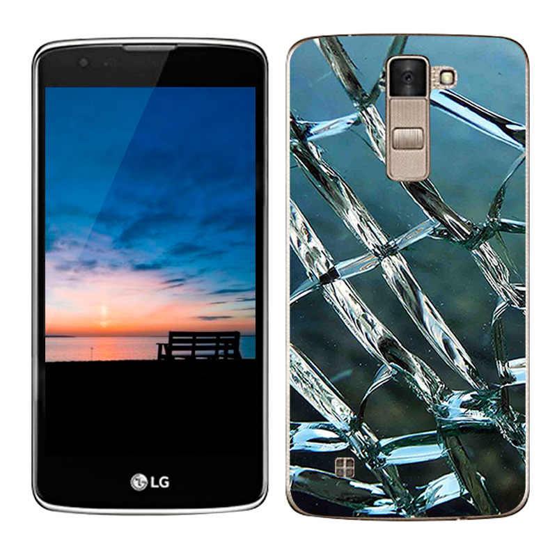 حالة فاخرة لل lg k8 lte K350 K350E K350N تغطي سكيب رسمت الحالات السيليكون tpu لينة غطاء ل هاتف lg k8 5.0 كابا