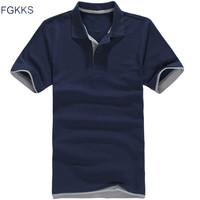 Fgkks 2017 brand clothing polo homme solid color wholesale polo shirt casual men tee shirt tops.jpg 200x200