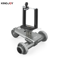 Kingjoy PPL-06 electric 3 Wheels tripod 360 degree head with quick release for Smartphone DSLR mirrorless GOPRO video camera