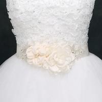 BRITNRY Handma Flower Wedding Belt Elegant Rhinestone Belt Wedding Party Bride Belt Formal Dress Belt Wedding Accessories