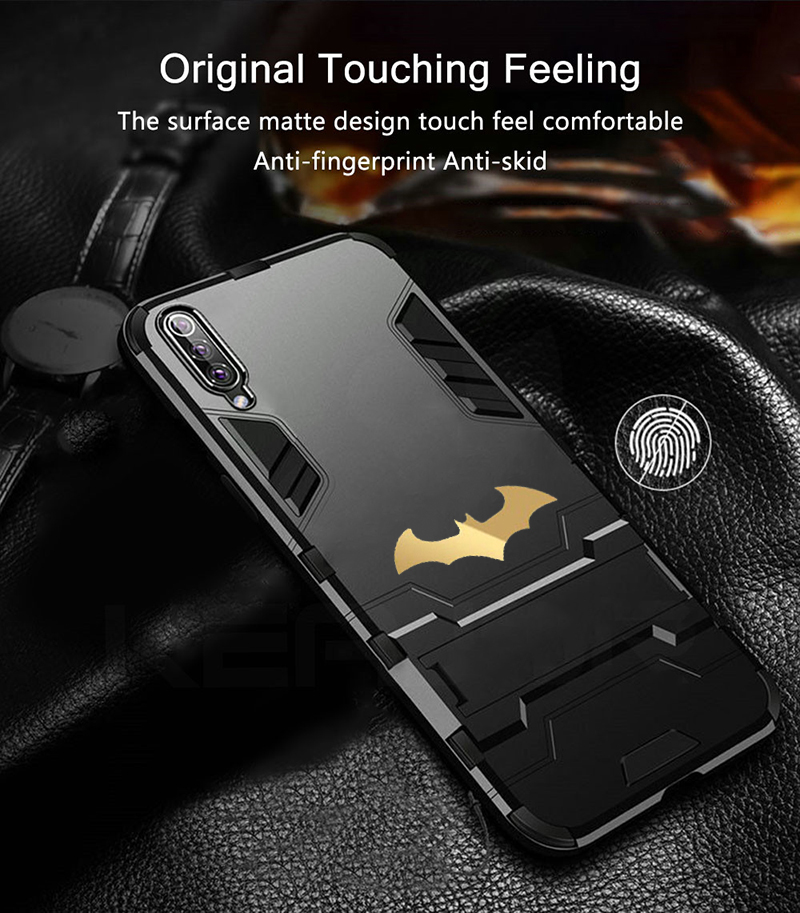 HTB1llWXXlSD3KVjSZFqq6A4bpXaR Bat Kickstand Case For Samsung Galaxy S9 S10 Plus S10e Note 9 Samsung A70 A50 A30 M30 M20 Shockproof Armor TPU + PC Tough Cover