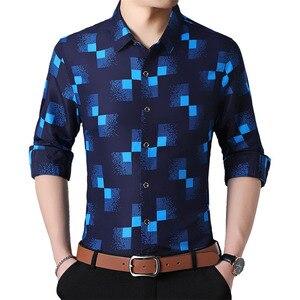 Image 1 - Plaid Shirts Mannen Mode 2019 Nieuwe Herfst Button Down Lange Mouwen Casual Sociale Shirt Plus Size 4XL 5XL 6XL 7XL