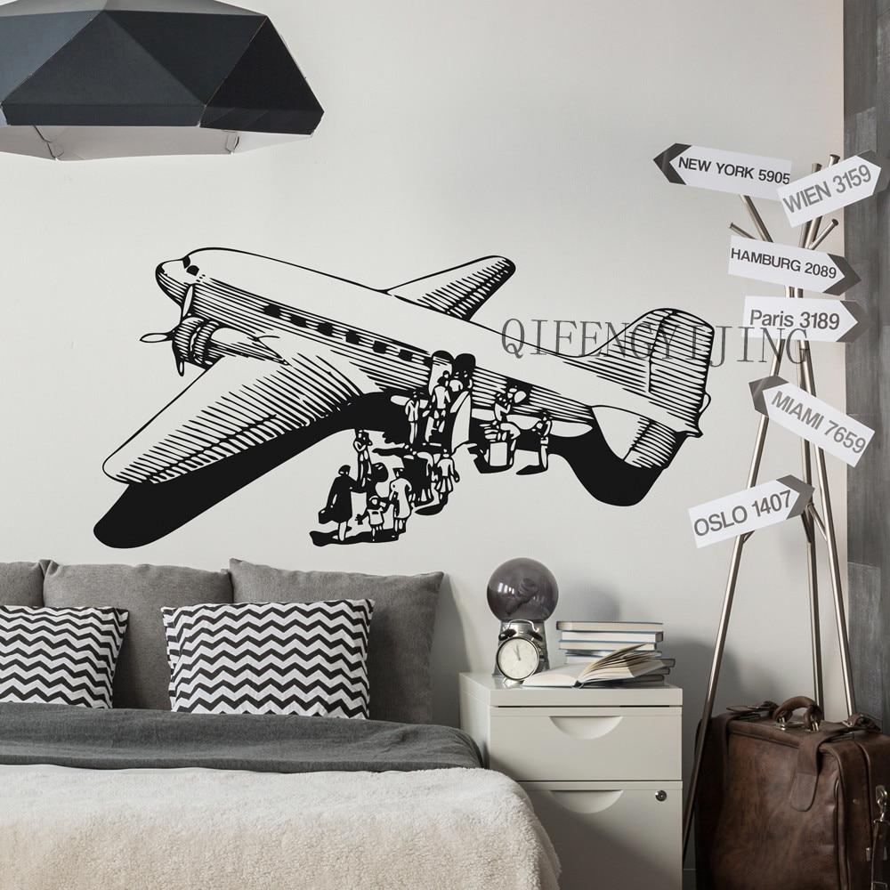 Unforqettable Memories Comprar Pegatinas De Pared Avión Empapelado Decoración Habitación 3d Pvc Material Adhesivo Aviones Papel Pintado Mural Fl 19 Online Baratos