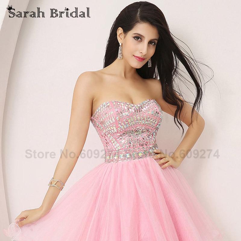 Lujoso Vestidos Cortos De Color Rosa Para Prom Molde - Ideas de ...