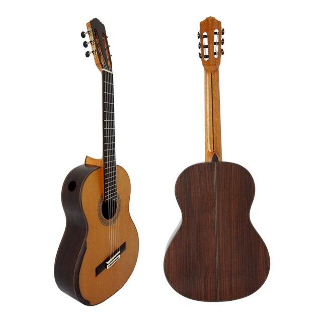 Aiersi Brand Professional Grade Raised Fretboard, Fanned Frets, Classic Smallman Guitar Model SC-098SPFFF