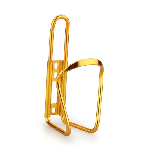 Practical Boutique  Bike Bicycle Cycling Mountain Sport Water Bottle Aluminum Cage Holder Gold(China)