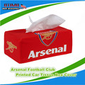 Cotton Cloth Removable Arsenal FC Tissue Box Cover European Club Arsenal Soccer Team Paper Container Dispenser Cover Auto Decor